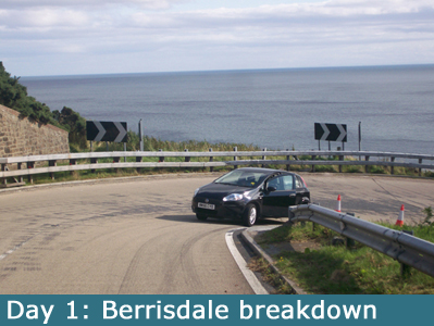 Breakdown at Berrisdale